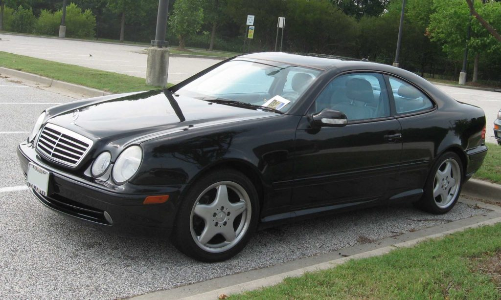 Used, black Mercedes-Benz CLK-Class coupe, CLK 55 AMG, W208 model