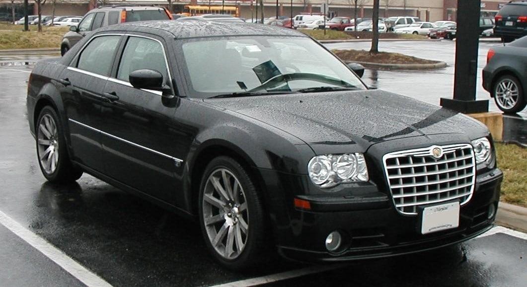 Used, black Chrysler 300C SRT8 on 20 inch wheels