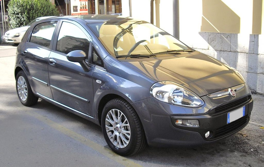 Used, grey Fiat Punto Evo on 15 inch OEM wheels