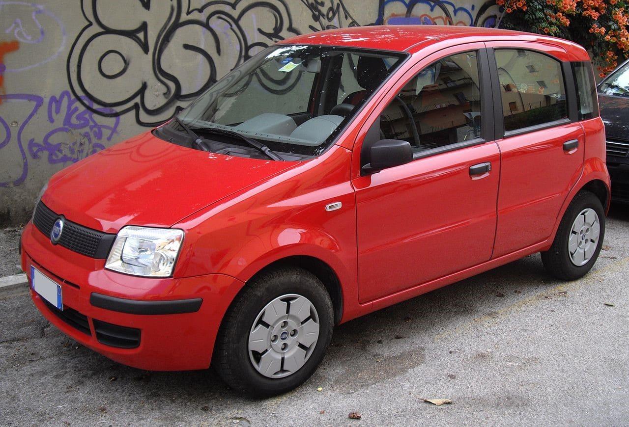 Used, red Fiat Panda, second-generation model, 5-door hatchback