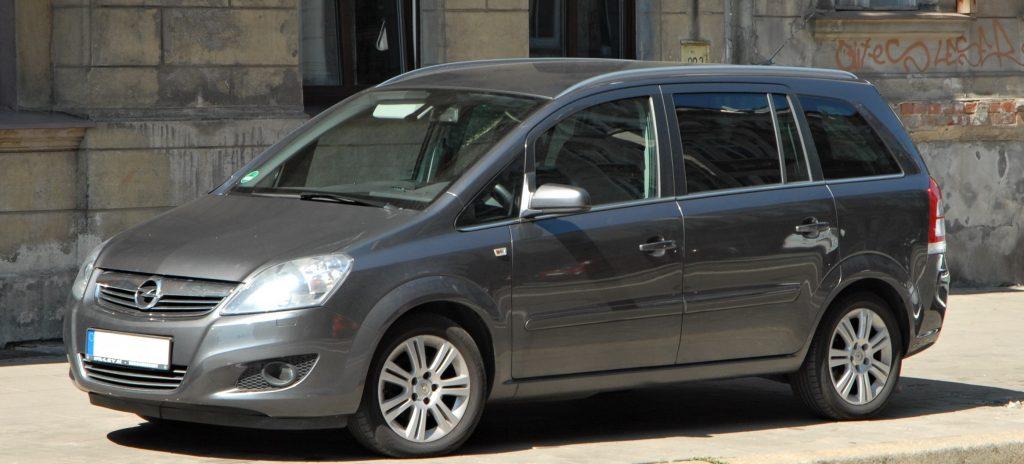Used, grey Opel/Vauxhall Zafira B on OEM alloy wheels