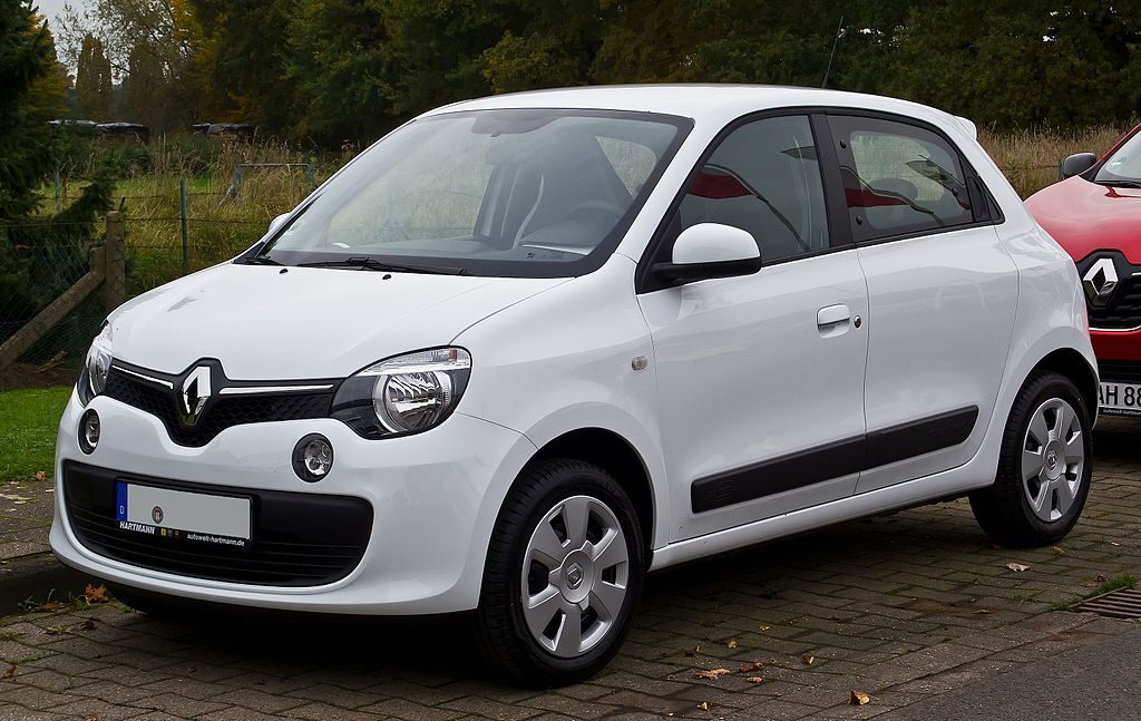 Used, white Renault Twingo, third-generation model