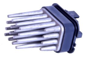 Vauxhall blower motor resistor used in Zafira B cars with automatic climate control, the metal spikes act as radiators