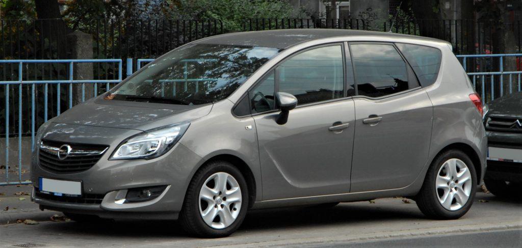 Used, grey Opel (Vauxhall) Meriva B on OEM alloy wheels.